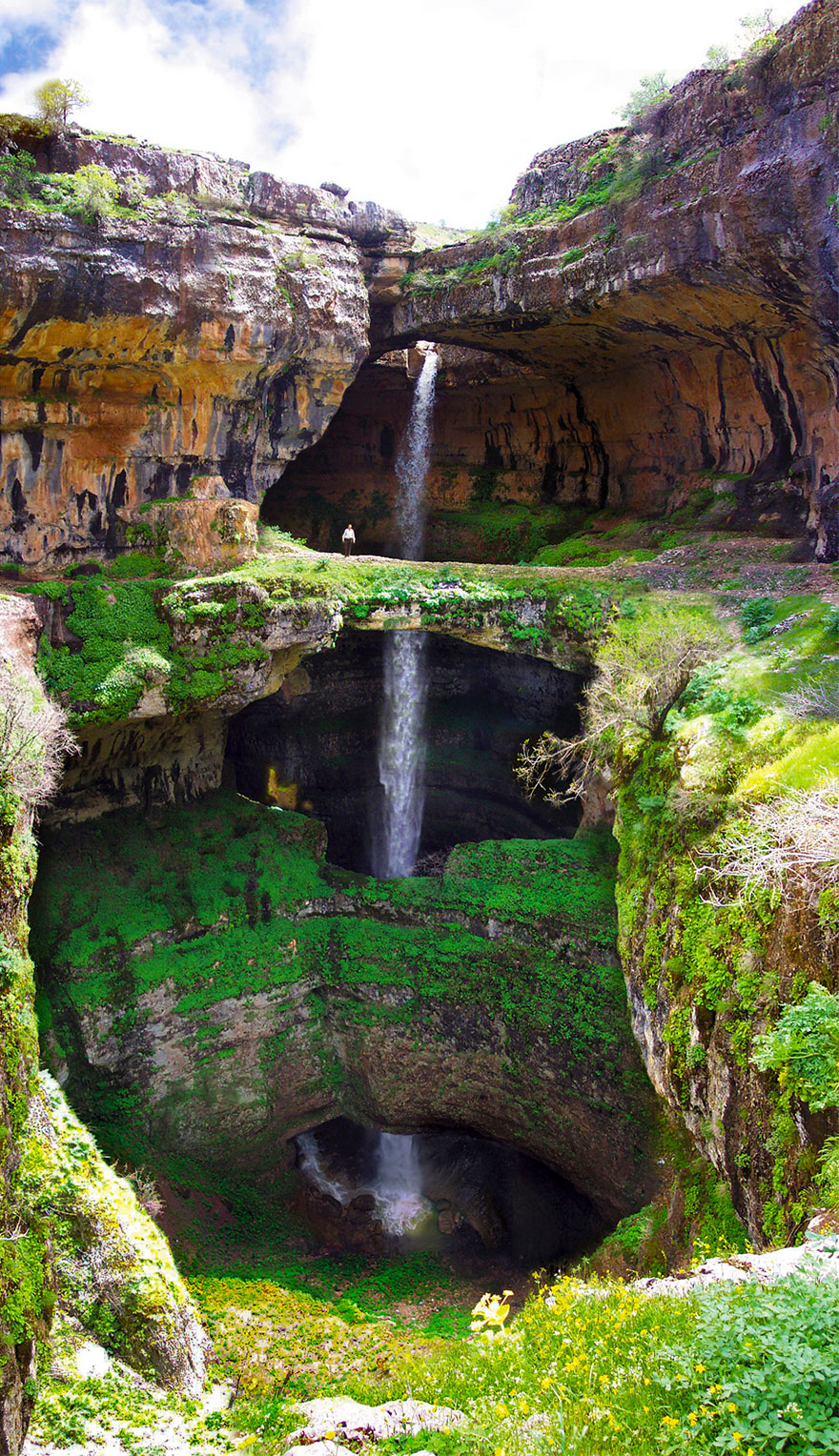 14095575134217 three bridges cave baatara gorge waterfall lebanon 13 This wonder of nature deserves respect..and ofcourse some adulation!!