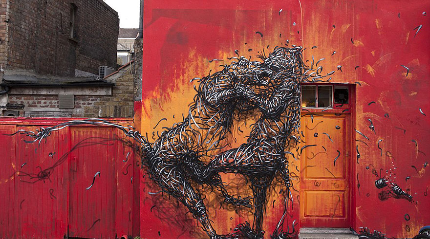 14095578785915 street art DALeast 2 Never seen before street art by Traveling Chinese Artist DALeast
