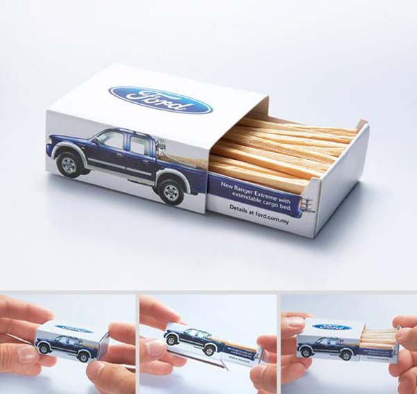 14095579204386 06 Ford Ranger Extreme Matchbox These product packaging ideas take creativity to a whole new level!! Number 22 is unmissable!
