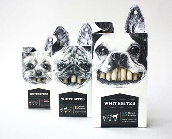 14095579229385 21 Whitebites dog snacks These product packaging ideas take creativity to a whole new level!! Number 22 is unmissable!