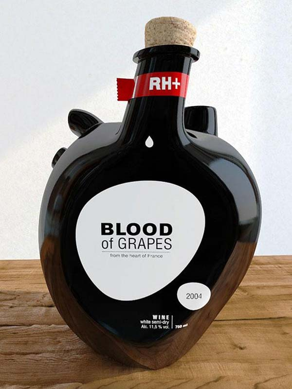 14095579231799 32 Blood of Grapes Wine Bottle These product packaging ideas take creativity to a whole new level!! Number 22 is unmissable!