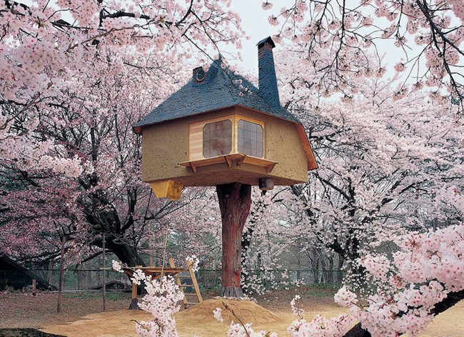 14095579608622 japanese treehouse 01 Theres A Treehouse In Japan Thats Straight Out Of A Fairy Tale. I Would Totally Live In This Thing.