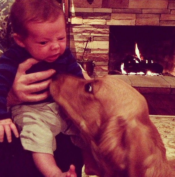 14095579629051 babies meeting dogs 11 Here Are 15 Pictures That Prove Its The Simplest Moments That Mean The Most. Heart = Exploded.