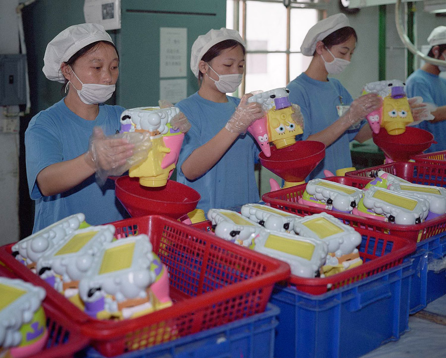 14095617319685 chinese factory workers toys 15 A pack of headless bodies? These images do a great job of stirring the ignorant souls