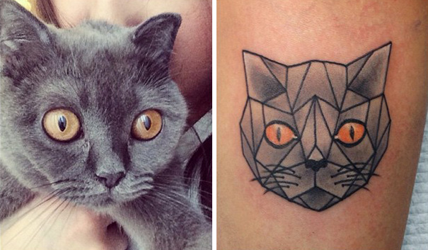 minimalistic cat tattoo 9  605 Cat lovers would Love this: 20 Minimalistic Cat Tattoos for Cat Lovers