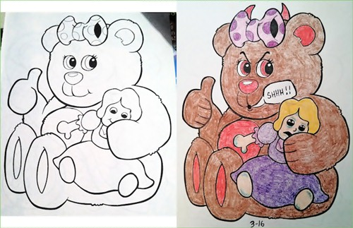 20 Hilariously Naughty Coloring Book Alterations | LogicGoat - Part 10