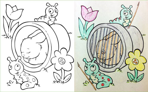 20 Hilariously Naughty Coloring Book Alterations | LogicGoat - Part 3